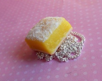 Polymer Clay Lemon Bar Necklace