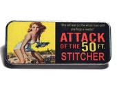 Magnetic Needle Case Needle Slider Case Attack of the 50ft Stitcher Retro Film Poster