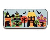 Magnetic Needle Case Needle Slider Case Spooksville Halloween Spooky Haunted Houses