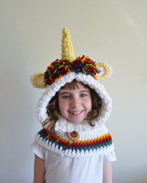Unicorn Hat Unicorn Hoodie Unicorn Cowl by MegansMenagerie