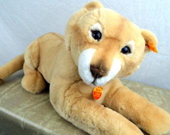 Large Vintage Steiff Stuffed Animal Lion Cat