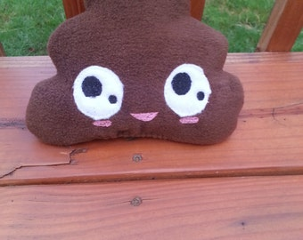 Stuffed Plush Smiley Poop Dog Toy with Squeaker