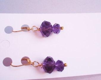 Amethyst Stone GF  Dangle Earrings