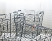set of wire baskets