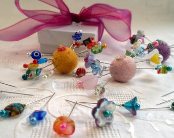 Stick With Me Assorted Pins, 10 Pretty Pins for Pretty Pincushions