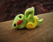 Sloth - a Whimsical Polymer Clay Art Doll or Cupcake Topper / Cake Topper Holidays