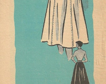 Marian Martin 9148 / Vintage 50s Mail Order Sewing Pattern / Skirt / Size Small