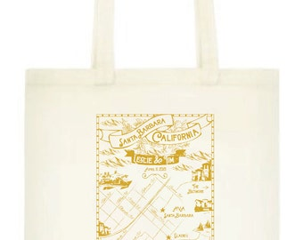 Santa Barbara Wedding Tote - Sets of 10, 15, 20, 25, 50 or 100 (Use this Tote with your SB Locations)