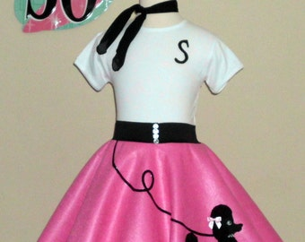 Gorgeous Girls 3pc Patty Poodle Skirt Outfit Your Choice of Size and Color S,M,L,XL Prices from 78.00 and Up!