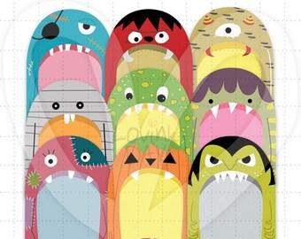 Monster Tags Clip Art - SKU : B16