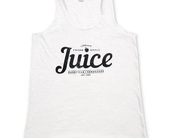Womens Tank Top -  White Apple Juice Tank - Eco-Heather - Typography Shirt - Small, Medium, Large, XL
