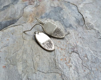 Simple Solid Silver Earrings for Charity.
