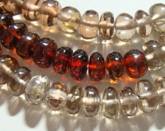 "Genuine Bi Color Sparkling Zircon Smooth Rondelle Beads, 4.5-5x3mm, 1/4 strand, 3"" strand"