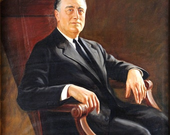 F.D.R. Franklin Delano Roosevelt Portrait 8 x 10 reproduction image
