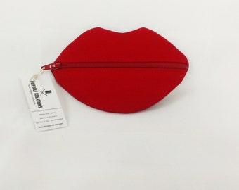 Lipstick Case Lip Pouch Lipstick Storage Lipstick Organizer Lipstick Bag Red Lips Makeup Bag Purse Organizer Bachelorette Gift Bridal Shower