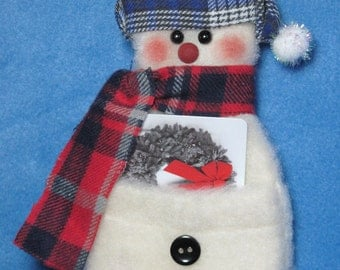 Snowman Gift Card Holder/Ornament with Stocking Hat