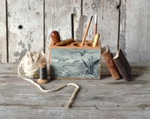 Sea Desk Caddy Medium: No. 2, Birds - by Peg and Awl