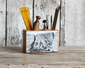 Sea Desk Caddy Medium: No. 3, Octopus - by Peg and Awl