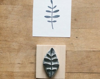 Little Leaves - Hand Carved Rubber Stamp