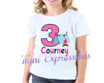 Camping Birthday shirt Personalized just for you