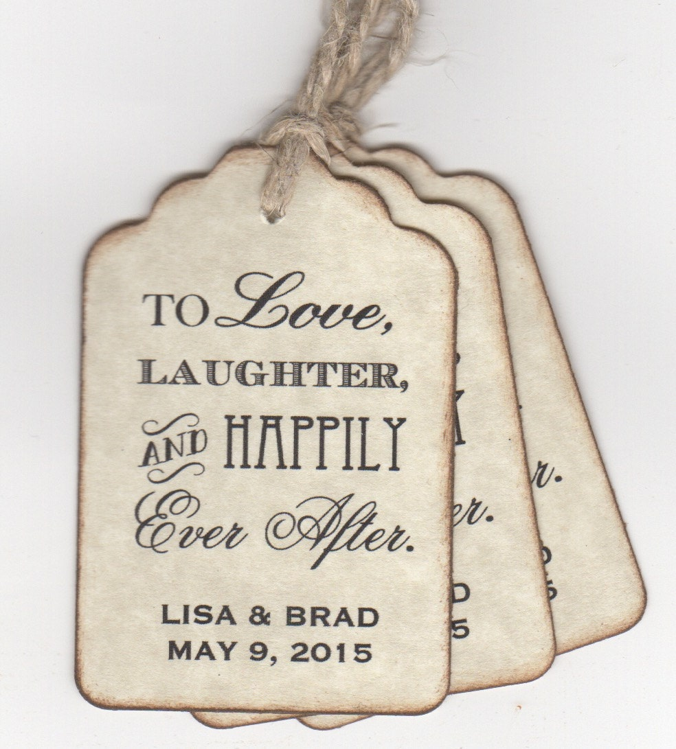 50 custom personalized wedding favor tags shower favor tags for Shower favor tag