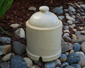 Antique Early 1920's Crock Chicken Waterer Dome - Farm Ranch Chicken Coop - Stoneware Decoration Decor - Garden Display