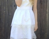 Short lace dress white wedding dress two tiers