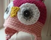 Crochet Owl Hat, Newborn Photo Prop, Crochet Photo Prop, Owl Hat Baby, Newborn Owl Hat, Girls Owl Hat, Boys Owl Hat
