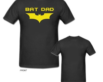 Bat Dad T-Shirt BatDad Tee Super Hero Father Daddy Fathers Day Style #2