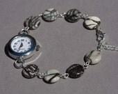 Spiderweb jasper monochrome bracelet watch, geometric watch bracelet