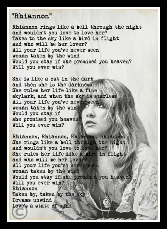 Fleetwood Mac - Rhiannon Lyrics | MetroLyrics