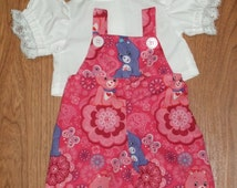 "For Cabbage Patch Doll Clothes 16"" inch Girls CPK New  Adorable Care Bear Bib Overalls, Blouse, Hair Bows."
