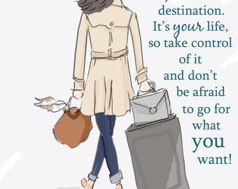 Cards for Women - Encouragement Cards - Moving Cards - Today You Determine Your Own Destination