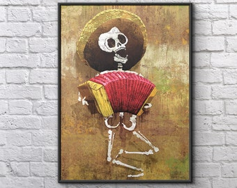 Dia de los Muertos Calavera Accordion - 18x24 art poster print