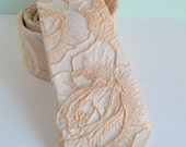 Floral Embossed Blush Peach  Neck Tie