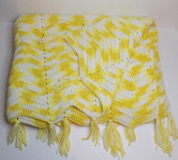 Vintage Ripple Crochet Afghan Pattern : Vintage Crochet Afghan Blanket Ripple Pattern by ...
