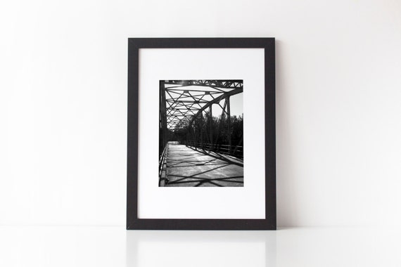 Photography, architectural, industrial decor, gray decor, wall decor, bridge photography, loft decor, metal bridge, light and shadow, print