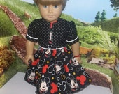"""Mickey Mouse complete outfit dress, jacket, shoes fits 18"""" American Girl dolls"""