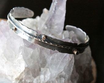 Diamond, Sapphire, 14 Karat Gold, Sterling Silver, Feather Cuff Bracelet... Moon Child...