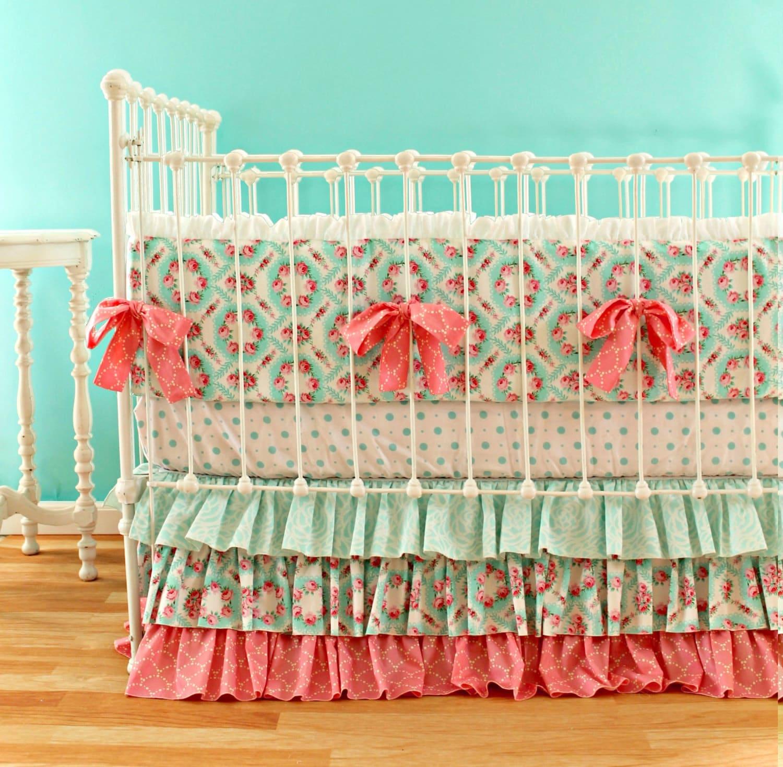 Pink and Aqua Nursery Art Baby Girl Personalized Nursery |Pink And Aqua Nursery