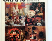Vintage Pattern, McCall's Crafts 3367 Holiday Centerpiece, Halloween Goody Bag, Gingerbread Ornament, Pumpkin Napkin Ring, DIY Holiday Decor