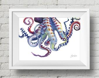 Sea Monster: print, octopus tentacles