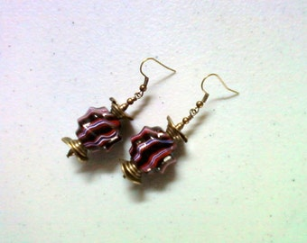 Black and Red Ethnic Earrings (1848)