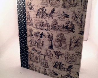 Upcycled Composition Notebook with Victorian Print
