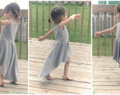 High low dress - Toddler Maxi Dress - Available in Gray, Black and White - Cotton Jersey