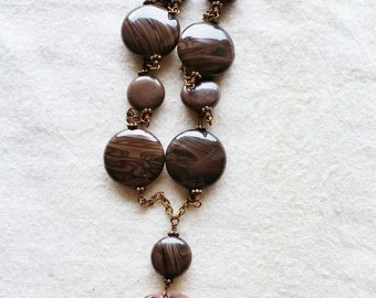 Dark Brown Tree of Life Pendant Necklace