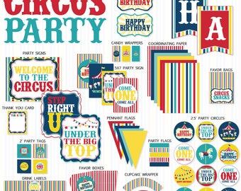 Circus Party PRINTABLE (INSTANT DOWNLOAD) by Love The Day