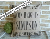 Housewarming Personalized - Family Name - Address - Home Sweet Home - Insert Included - FREE SHIPPING