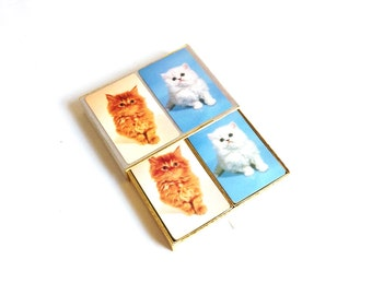 Vintage Kitten Playing Cards / 2 Deck Set / Congress Cat Cards