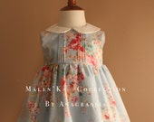 Melan'Ka Collection Blue Colorful Floral Dress for Baby